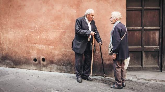 centenarians walking in italy