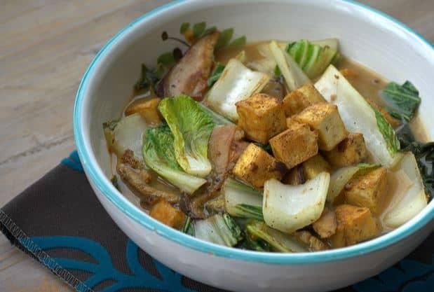 okinawan miso and tofu meal