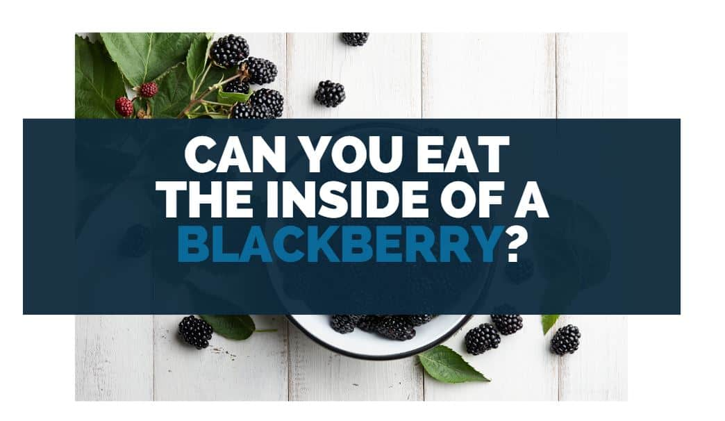 can you eat the inside of a blackberry