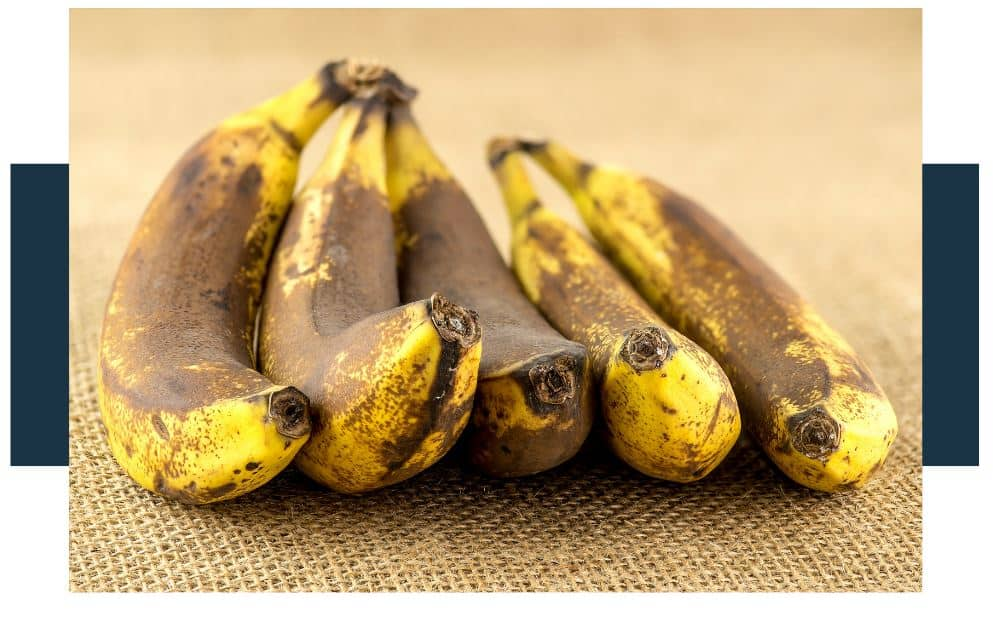 A banana that is brown because it's over-ripe