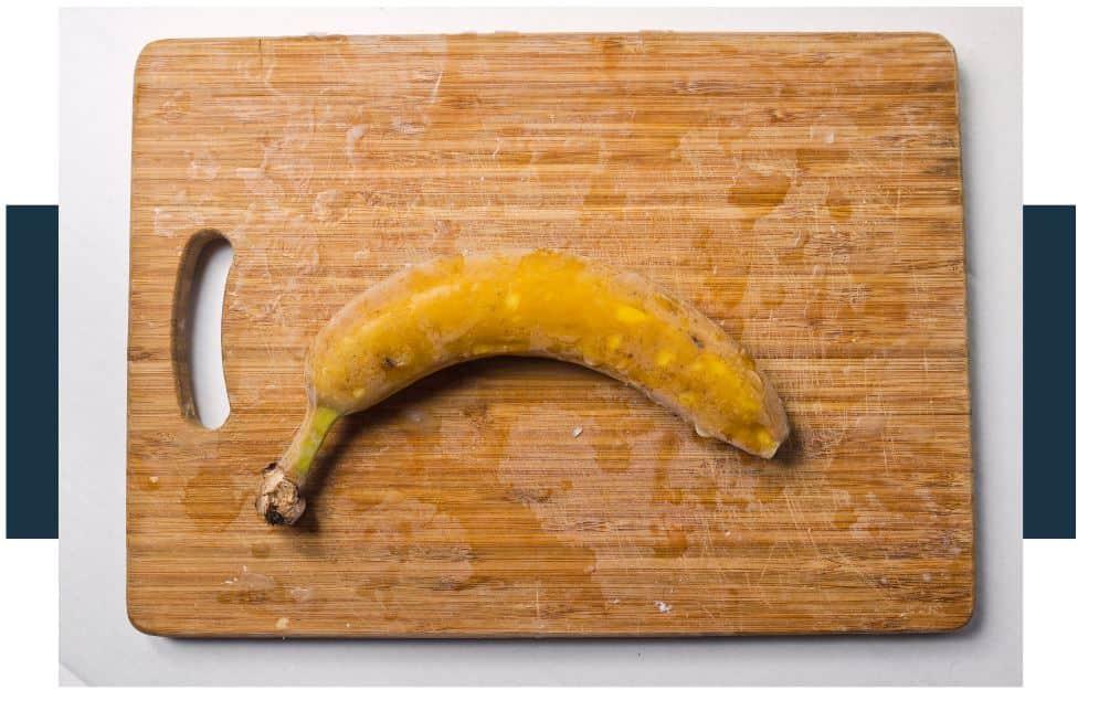 When you freeze bananas