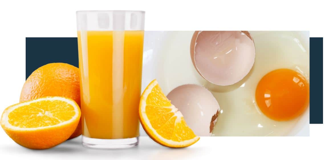 Is It Considered Healthy To Drink A Glass Of Orange Juice With Cooked Eggs