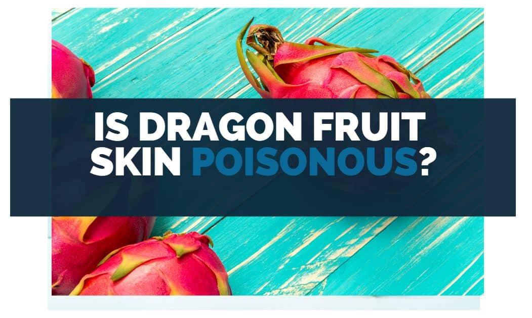 is dragon fruit skin poisonous