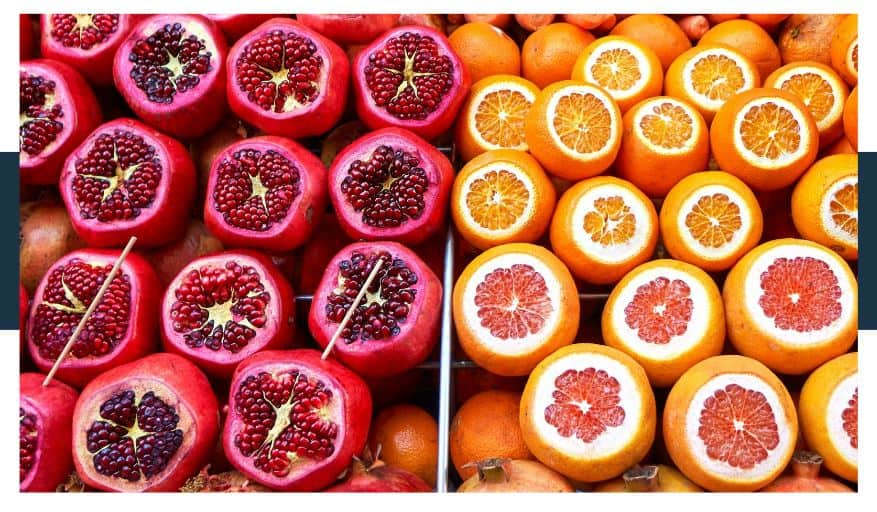 Pomegranates may not be a citrus fruit