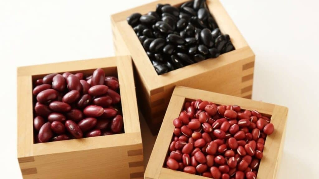 Are beans high in starch compared to other starchy foods