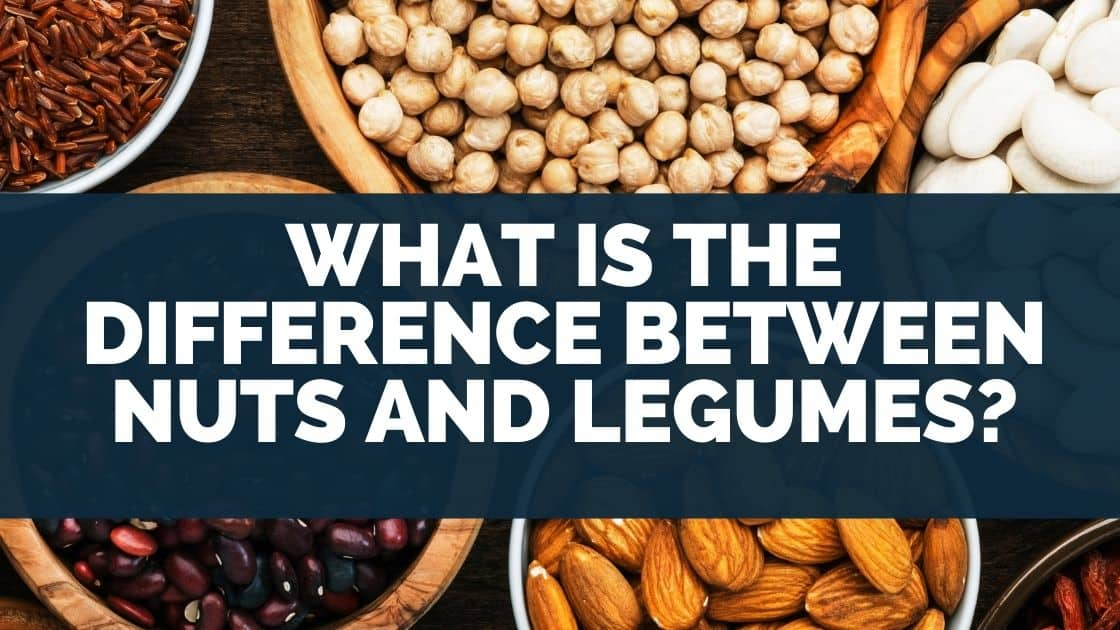 What is the difference between nuts and legumes