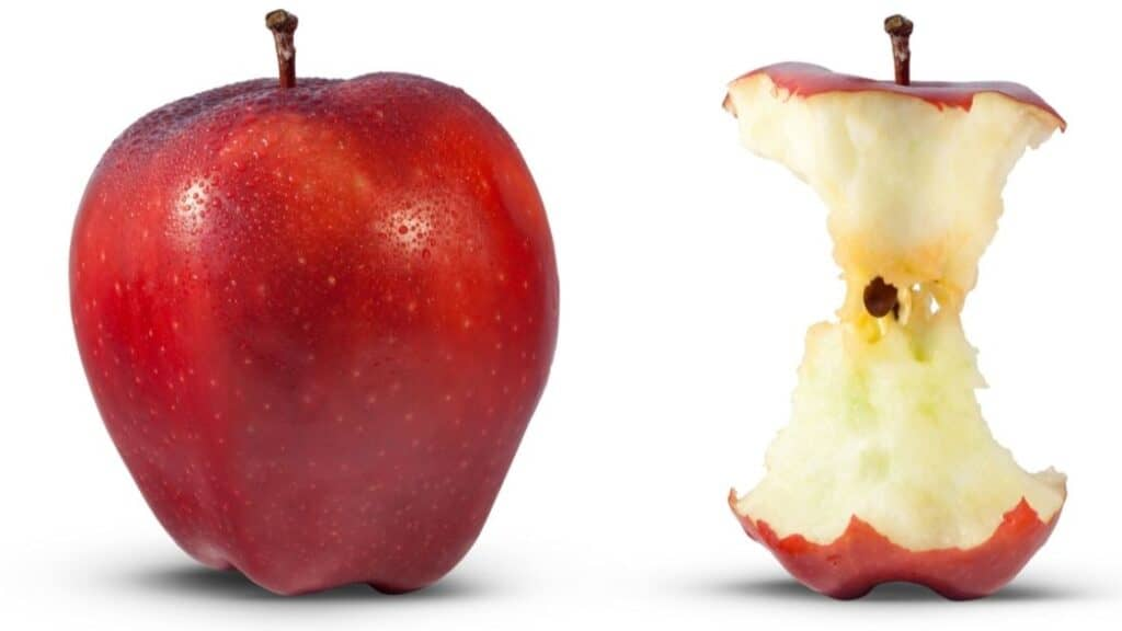 Is it OK to eat the core of an apple