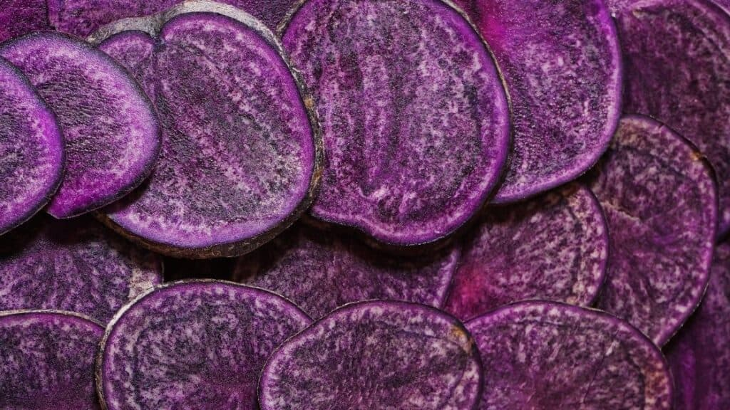How many calories are in a purple potato